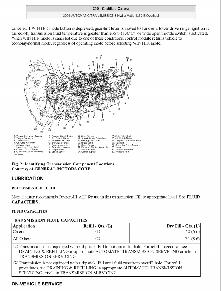 Cadillac Catera Factory Service Repair Manual  1997-2001